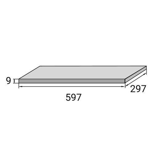 Керамогранитная плитка Aquaviva Montagna Light Gray 298x598x9.2 мм
