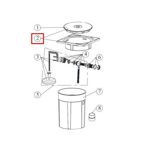 Рамка с крышкой для регулятора уровня воды RO-7 Emaux