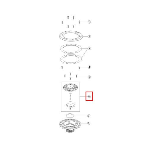 Решетка донной форсунки EM2863 Emaux