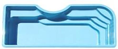 """Стекловолоконный бассейн """"Корсика"""" 8,4x3,8м Favorit"""