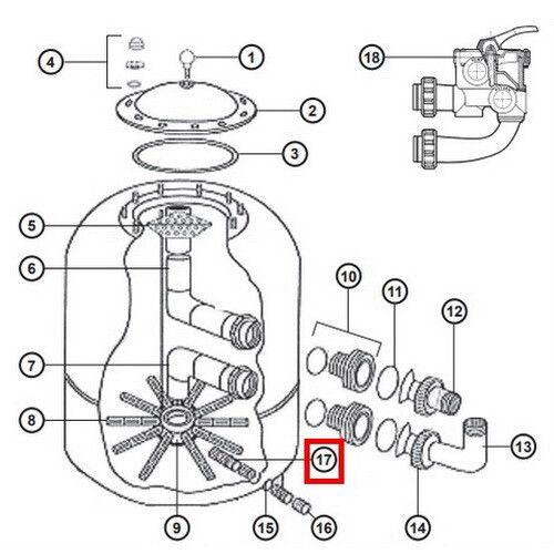 Сепаратор дренажного клапана NCX12050 Hayward