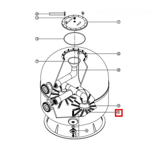 Сепаратор фильтра Kripsol (1шт) (RCFI0008.09R), 640 мм
