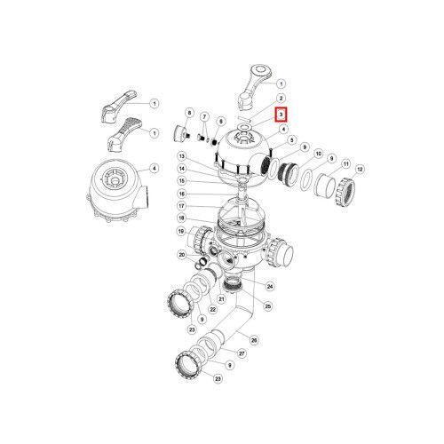 """Шайба Emaux для ручки клапана 1.5"""" Top MPV-01 и 2"""" - MPV-04 Emaux"""