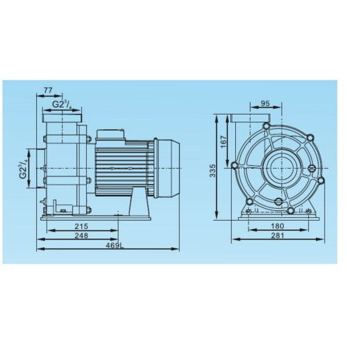 Насос центробежный LX WTB550Т (380В, 90 м3/ч, 7.5HP)