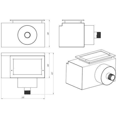 Скиммер универсальный из нержавеющей стали Aquaviva Standart (450х250 мм)