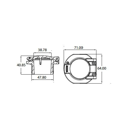Стеновой клапан пылесосной форсунки Emaux EM2855