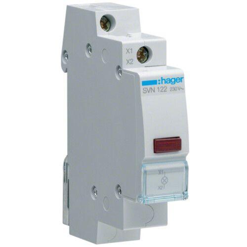 Индикатор SVN122 LED 230 В, красный, 1 модуль
