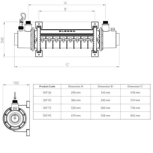 Теплообменник SST 75 кВт Titan Elecro