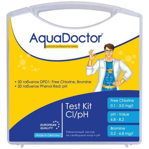 Таблеточный тестер AquaDoctor Cl и pH light kit