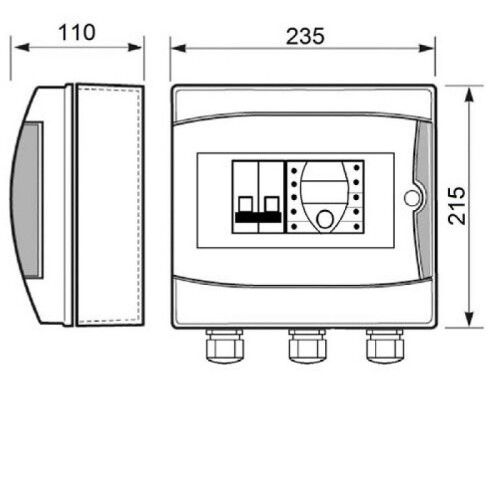 Панель управления аттракционами ECO-SWIM-230 В Toscano