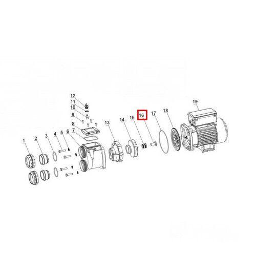 Удерживающее кольцо для двигателя SWIM 025-150 Aquaviva