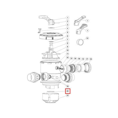 Уплотнительное кольцо диффузора для крана MPV02-MPV08 Emaux