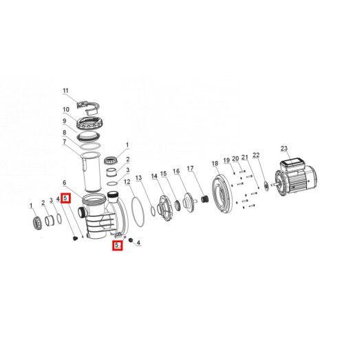 Уплотнительное кольцо для дренажной заглушки SWIM 025-150 Aquaviva