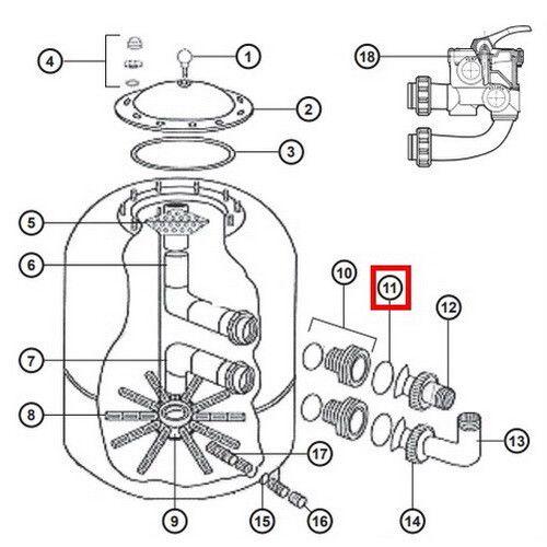 Уплотнительное кольцо NCX12038 для соединительной муфты клапана Hayward