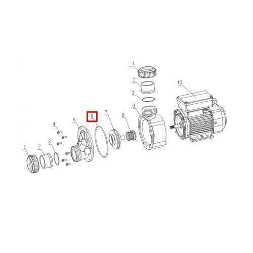 Уплотнительное кольцо корпуса для насоса JA O-ring Aquaviva
