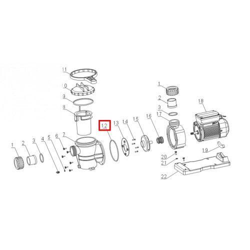 Уплотнительное кольцо корпуса для насоса VWS\STP 150-300 Aquaviva