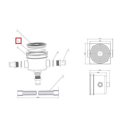Уплотнительное кольцо для крышки дозовой коробки EM2823 Emaux
