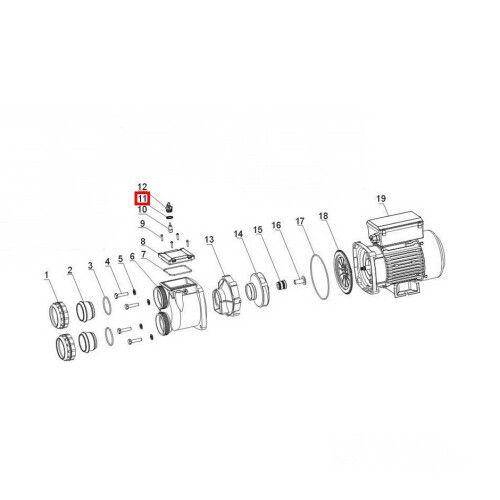 Уплотнительное кольцо для воздушного клапана насоса XDA Aquaviva