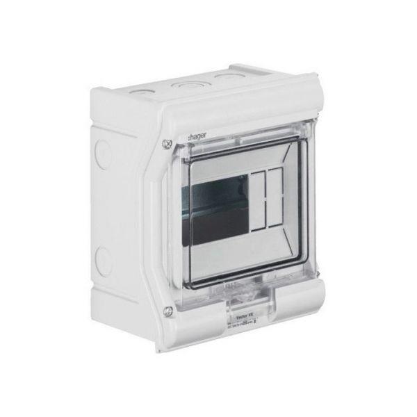 Распределительный щит (1 ряд, 4/6 модулей) Vector VE106D