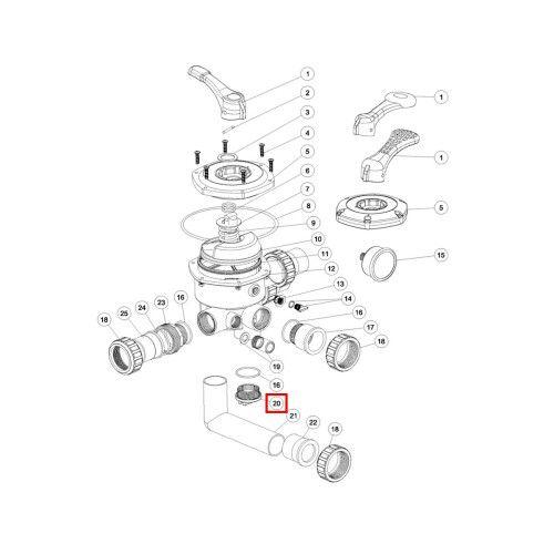 Фитинг манометра крана серии MPV Emaux E190109