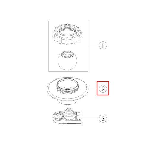 Закладная форсунки EM4408 GB32 Emaux